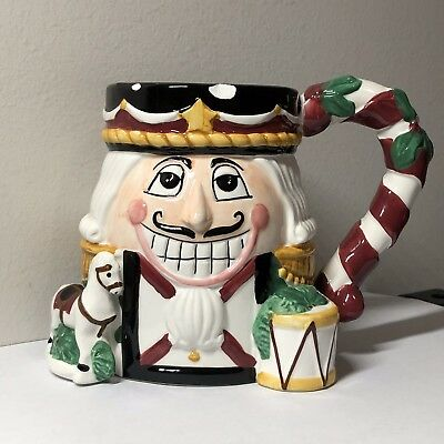 Tis the Season NUTCRACKER Christmas-Holiday Mug Handpainted Ceramic