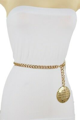 Femmes Sexy Métal or Chaîne Maillons Ethnique Bling Charme Rond Ceinture  Boucle b22b0310bf5