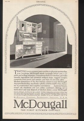 1920 McDOUGALL KITCHEN CABINET DECOR HOME ICE BOX FRANKFORT INDIANA -19457