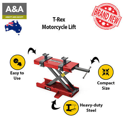 Motorcycle Lift | 100% AUTHENTIC | 2 Removable Screw Adapters Wide Base 1yr Wrty