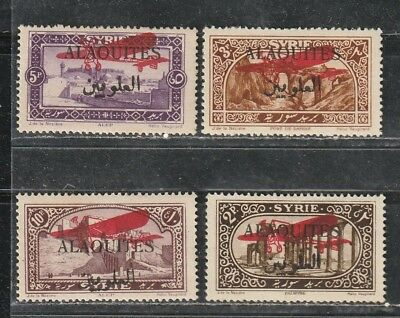 1926 French colony stamps, Alaouites Syria, Air full set MH, SC C9-12