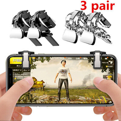 Metal PUBG Shooter Controller Game Trigger Fire Button Handle L1R1 for phones U