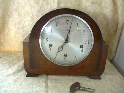 Smiths Enfield Westminster Chimes-mantel clock-working with key-keeps good time