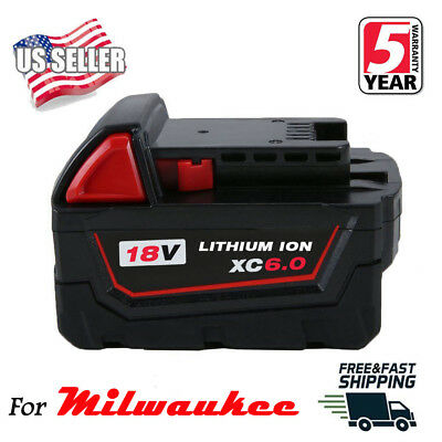 6.0Ah Replace For Milwaukee M18 48-11-1860 48-11-1850 18VOLT Lithium-Ion Battery