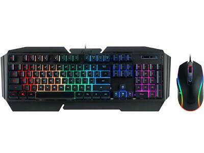 Rosewill Gaming Keyboard and Mouse Combo, Mechanical Switch Feel Keyboard with 9