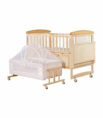 wooden baby cot bed 3 in 1 - baby bed +mosquito bed+table+diaping bed+2x beds