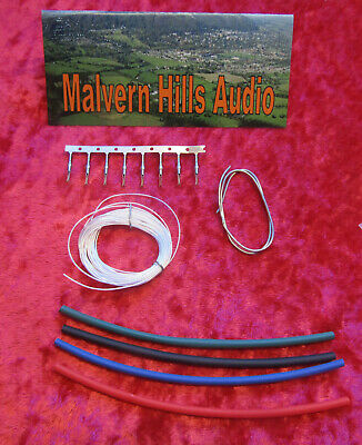 Pure Silver Litz Re-Wire Kit 30 AWG 3 Metres Long with Tags and Heat Shrink