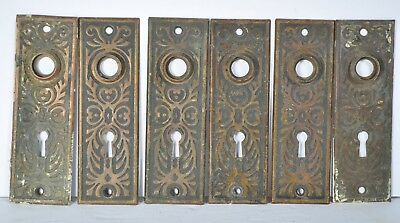 Vintage Doorknob Backplates Group 6 Fancy Eastlake Brass Victorian Repurpose