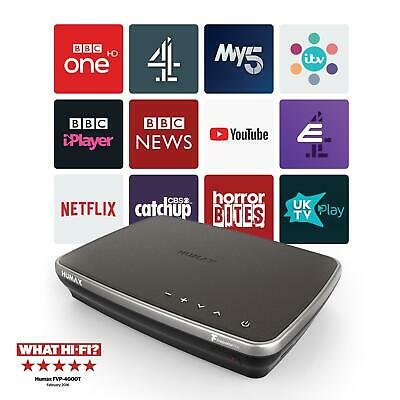 Humax FVP-4000T 500GB Freeview Set Top Box Recorder Play HD TV Up To 300