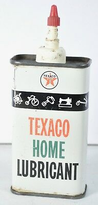 Vintage Texaco Home Oil 4 oz Lubricating Appliances Advertising Gas