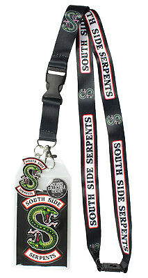 """Riverdale Southside Serpents ID Lanyard Badge With 2"""" Rubber Charm Pendant"""