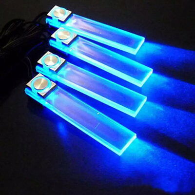4 In 1 12V Blue Car Atmosphere Lamp Charge LED Interior Floor Lights