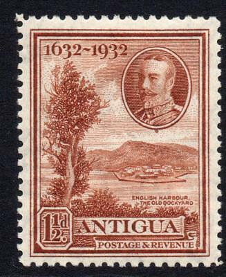 Antigua 1 1/2d Stamp c1932 Mounted Mint