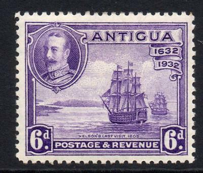 Antigua 6d Stamp c1932 Mounted Mint