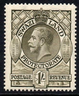 Swaziland 1/- Stamp c1933 Mounted Mint
