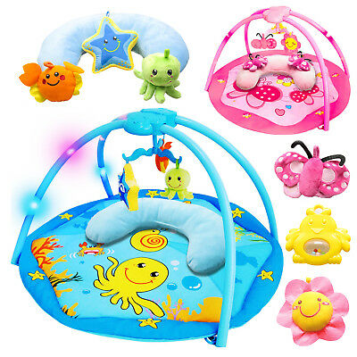 Pink/Blue Baby Activity Play Gym Mat  Music Flashing Lights with Toys - 30%off