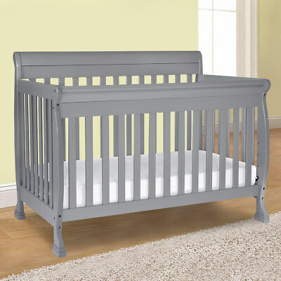 Convertible Crib 4-in-1 by DaVinci Kalani in Grey with 4 Mattress Positions