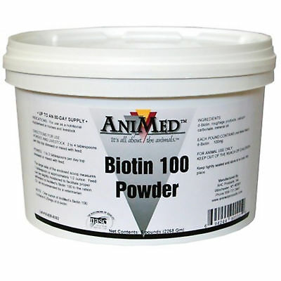AniMed Biotin 100 Powder Helps Metabolize Protein For Hoof Growth