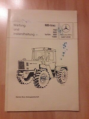 Wartung & Instandhaltung MB trac 700, 800, 900 Turbo, 1000