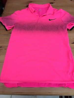 Mens Nike Roger Federer Tennis Small Bright Pink