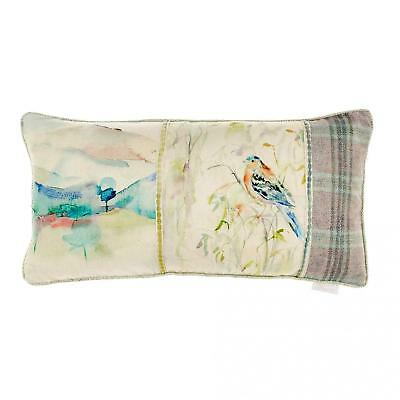 40 x 40cm NEW Voyage Sabina Pansy Embroidered Feather Cushion Official Voyage