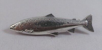 New Sterling Silver Salmon / Trout Pin /  Badge / Brooch