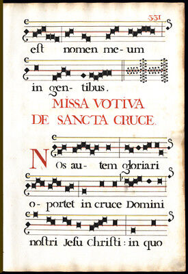 Votive Mass for The Holy Cross 1725 Antiphonal Music Leaf Elaborate Stencils