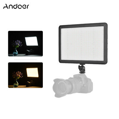 Andoer LED Video Panel Lamp Light On-Camera Dimmable Slim for Photo Studio T6B2