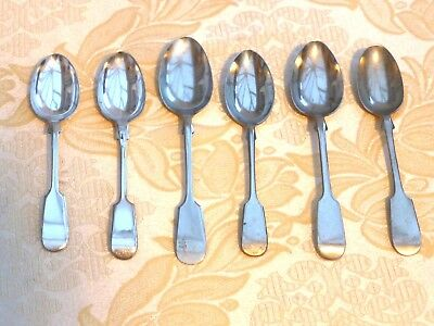 6 x ART DECO SILVER PLATED OLD ENGLISH FIDDLE PATTERN TEA SPOONS  1410177/180