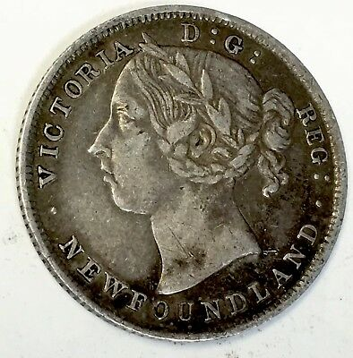 1894 CANADA - 20 CENT PIECE - SEE PICS - Only 100,000 Mintage - 92.5% Silver