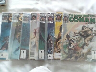 Eight Issues Savage Sword Of Conan Us Marvel Magazine 1989 See Details Below