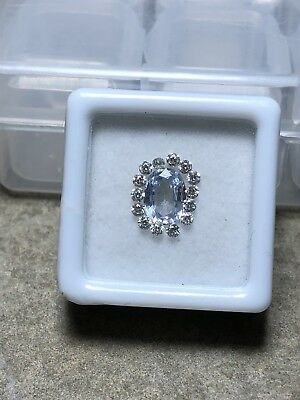 Lot Zafiro Natural 1.50ct Diamantes 0.48ct