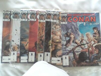 Eight Issues Savage Sword Of Conan Us Marvel Magazine 1988 See Details Below