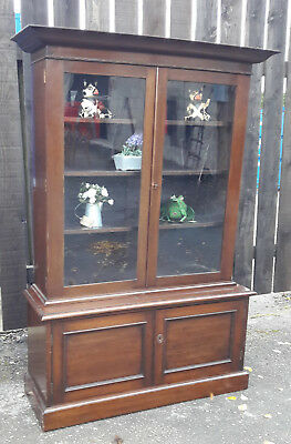 Antique  George V Glazed Library Bookcase