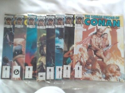 Eight Issues Savage Sword Of Conan Us Marvel Magazine 1988-89 See Details Below