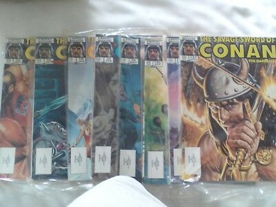 Eight Issues Savage Sword Of Conan Us Marvel Magazine 1986-87 See Details Below