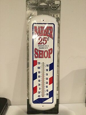 Classic Thermometer Retro Style Barber Shop 17 Inches. New.