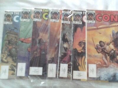 Seven Issues Savage Sword Of Conan Us Marvel Magazine 1986 See Details Below