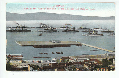 Gibraltar Harbour American And Russian Fleets Pre 1914 A Benzaquen Tanger Old PC
