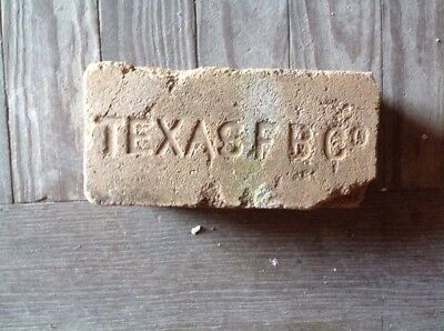 Antique Fire Brick Stamped **** Texas F B Co  *********