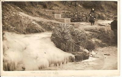 View On River Ayr Walk ( At Wallace's Heel ) Vintage Rppc