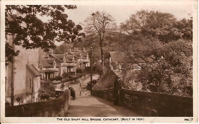 Cathcart , The Old Snuff Mill Bridge (Built In 1624 ) , Vintage Rppc