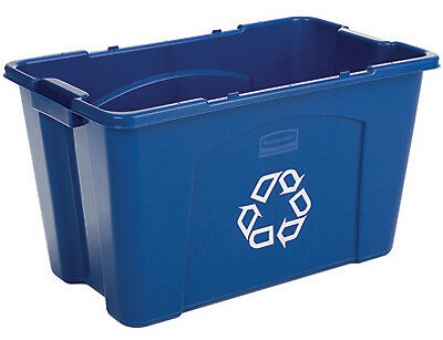RUBBERMAID COMM PROD Recycling Box, 18-Gals. 5718-73-BLUE