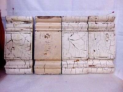 4 antique WOOD PLINTH BLOCKS ARCHITECTURAL SALVAGE victorian trim $9.95 NO RESRV
