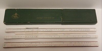 Regolo Calcolatore Vintage A.w.faber -Castell 1/87 Rietz - Made In Germany