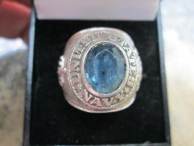 Wwii Us Navy Sterling Silver Ring  Size 10