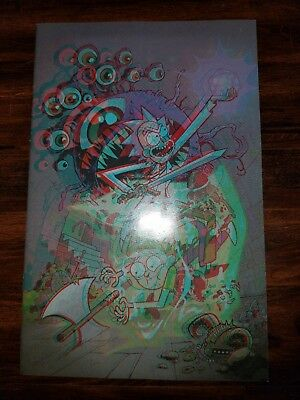 Rick And Morty Vs Dungeons & Dragons Rare 3D Variant Only 500 Made! Coa Included