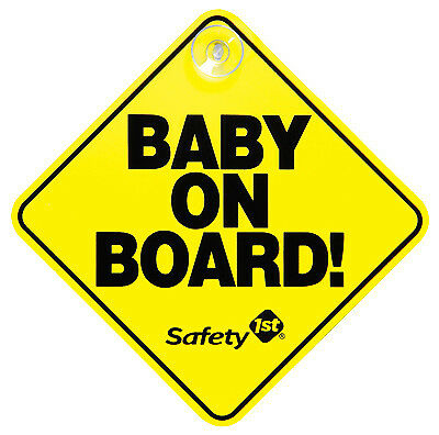 """SAFETY 1ST/DOREL Yellow """"Baby On Board"""" Sign 48918"""