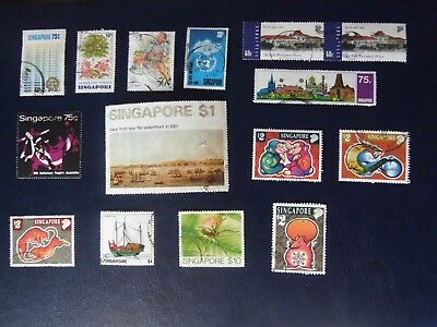 Catalogued £67+ Collection LOT Singapore stamps FINE USED includes  ART @ £17