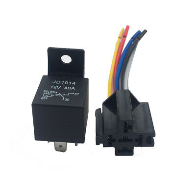 12V 40A AMP 5 SPDT Car Truck Auto Automobile Relay w/ 5 Pin Socket for GPS A0V1
